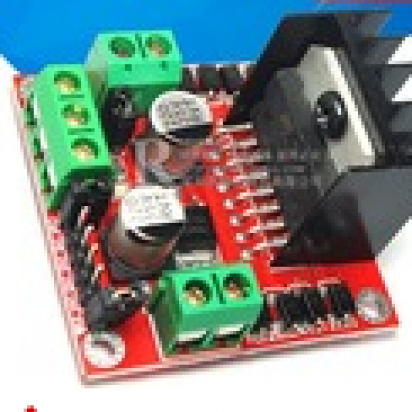 L298N电机驱动板模块l298直流步进电机马达智能车机..