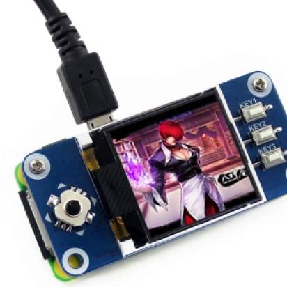 树莓派 1.44寸彩色LCD 扩展板 SPI接口 迷你游戏机..